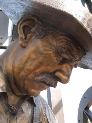 Closeup of oilworker. image. Click for full size.