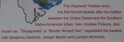 Hopewell Treaty Site Marker image. Click for full size.
