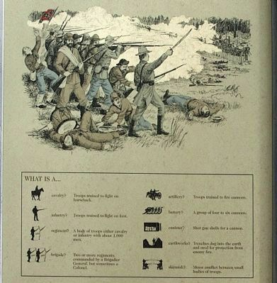 Olustee Battlefield Marker, right panel image. Click for full size.