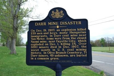 Darr Mine Disaster Marker image. Click for full size.