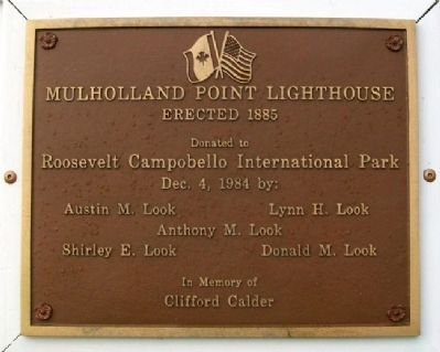 Mulholland Point Lighthouse Marker image. Click for full size.