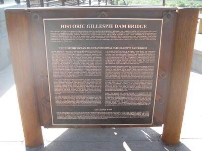 Historic Gillespie Dam Bridge Marker Photo, Click for full size