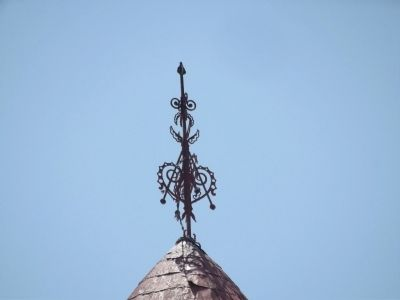 Ornamental Ironwork atop the spire image. Click for full size.