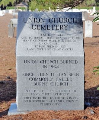 Union Church Cemetery Marker image. Click for full size.