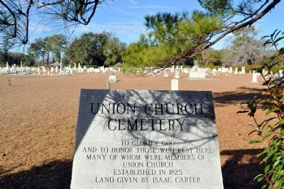Union Church Cemetery Marker and Cemetery image. Click for full size.