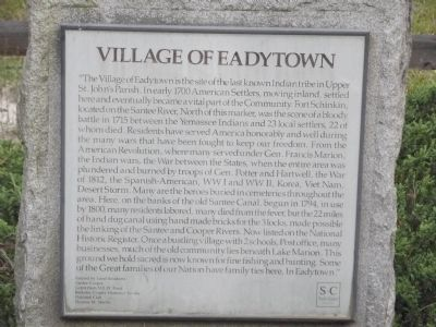 Village of Eadytown Marker image. Click for full size.