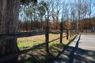 Split-rail Fence Separating Church and Cemetery Photo, Click for full size