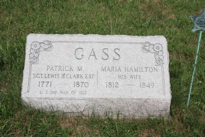 Patrick Gass Gravestone image. Click for full size.