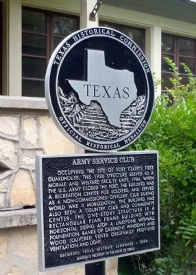 Army Service Club Marker image. Click for full size.