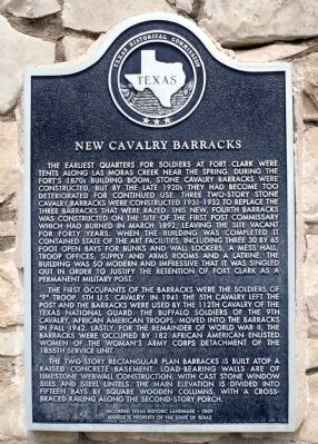 New Cavalry Barracks Marker image. Click for full size.