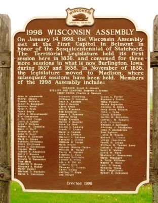 1998 Wisconsin Assembly Marker image. Click for full size.