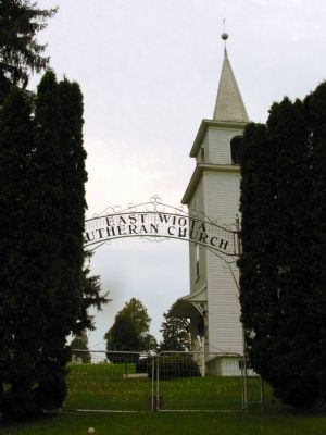 East Wiota Lutheran Church Gate image. Click for full size.