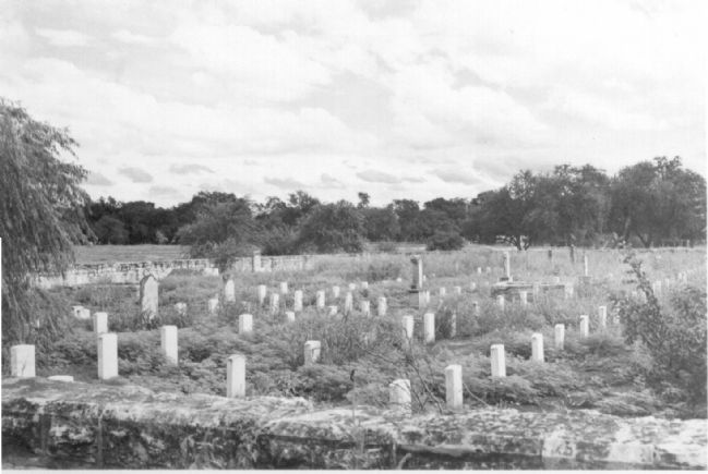 Historic view of Fort Clark's original post cemetery image. Click for full size.