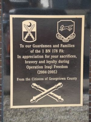 Georgetown County National Guard Memorial Marker image. Click for full size.