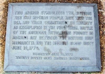 First Naval Battle of the American Revolution Marker image. Click for full size.