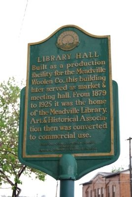 Library Hall Marker image. Click for full size.