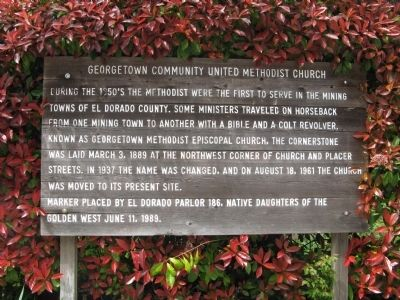 Georgetown Community United Methodist Church Marker image. Click for full size.