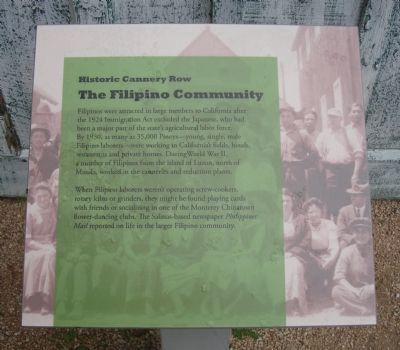 The Filipino Community Marker image. Click for full size.