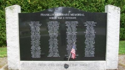 Franklin Veterans Memorial image. Click for full size.