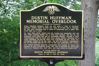 Dustin Huffman Memorial Overlook Marker image. Click for full size.
