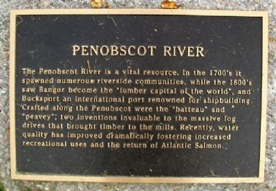 Penobscot River Marker image. Click for full size.