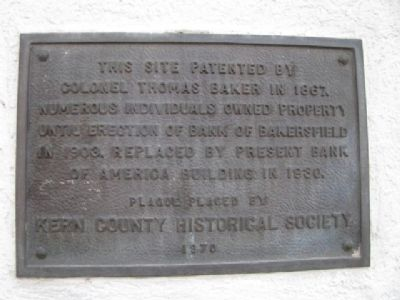 Bank of Bakersfield Marker image. Click for full size.