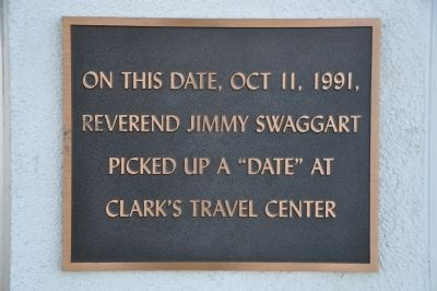 "Jimmy Swaggart's ""Date"" Marker image. Click for full size."