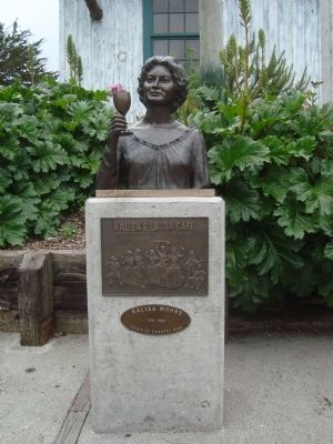 Bust of Kalisa Moore, Queen of Cannery Row image. Click for full size.