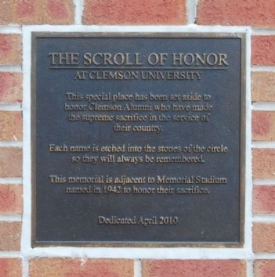 The Scroll of Honor Marker image. Click for full size.