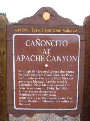 Cañoncito at Apache Canyon Marker image. Click for full size.