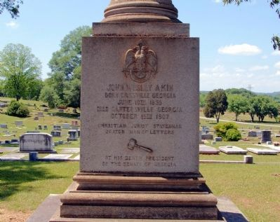 John W. Akin Grave Photo, Click for full size