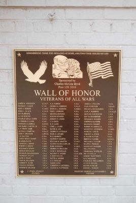 Wall of Honor 2010 Plaque image. Click for full size.