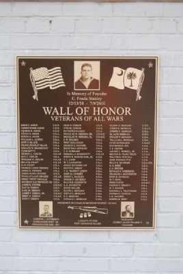 Wall of Honor 2011 Plaque image. Click for full size.