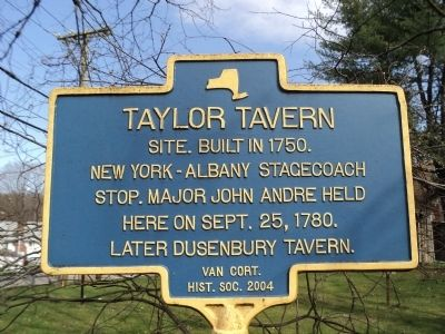 Taylor Tavern Marker image. Click for full size.