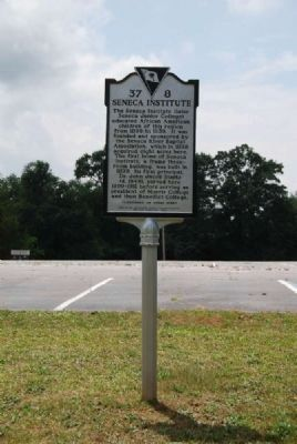 Seneca Institute Marker image. Click for full size.