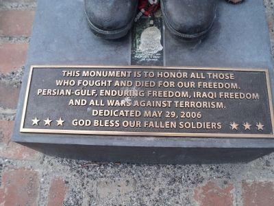 God Bless Our Fallen Soldiers Marker Photo, Click for full size
