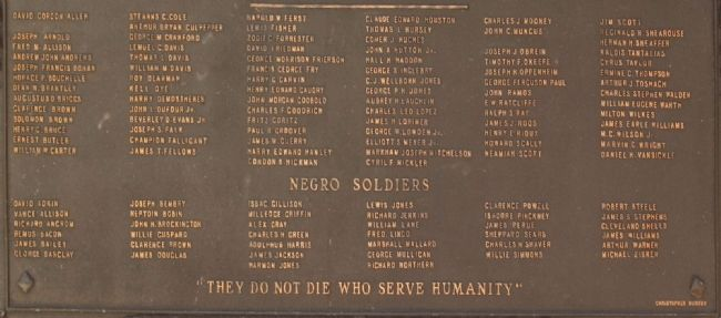 Roll of Honor Marker, list of names image. Click for full size.