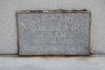 Elbert County Confederate Monument Cornerstone image. Click for full size.