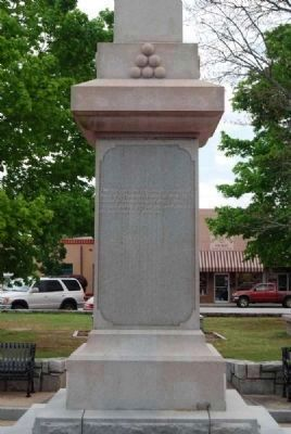 Elbert County Confederate Monument<br>West Facing image. Click for full size.