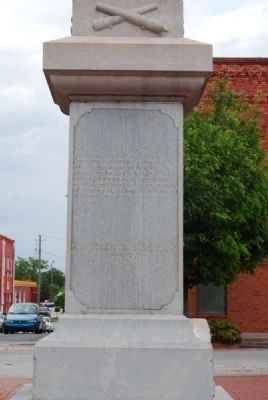 Elbert County Confederate Monument<br>South Facing image. Click for full size.
