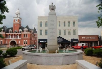 Elberton Granite Bicentennial Memorial Fountain Photo, Click for full size
