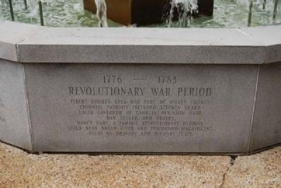 Elberton Granite Bicentennial Memorial Fountain<br>Third Panel Photo, Click for full size