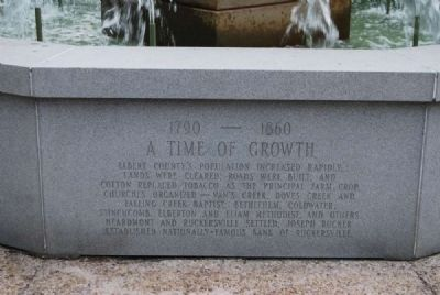 Elberton Granite Bicentennial Memorial Fountain<br>Sixth Panel Photo, Click for full size