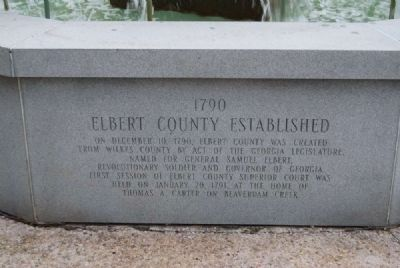 Elberton Granite Bicentennial Memorial Fountain<br>Fifth Panel Photo, Click for full size
