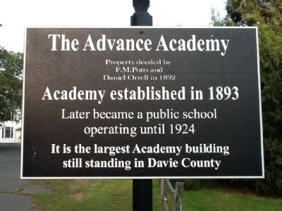The Advance Academy Marker image. Click for full size.