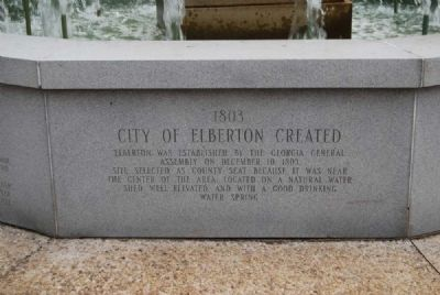 Elberton Granite Bicentennial Memorial Fountain<br>Seventh Panel Photo, Click for full size