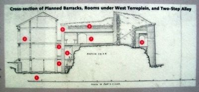 Cross-Section on Where Did the Soldiers Sleep? Marker image. Click for full size.