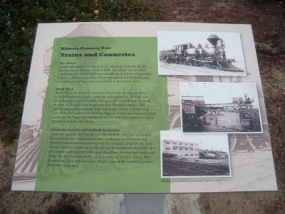 Trains and Canneries Marker image. Click for full size.