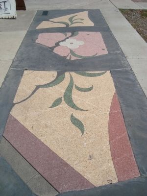 Remains of the Terrazzo Sidewalk image. Click for full size.