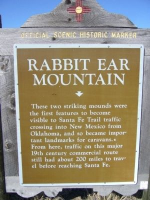 Rabbit Ear Mountain Marker image. Click for full size.